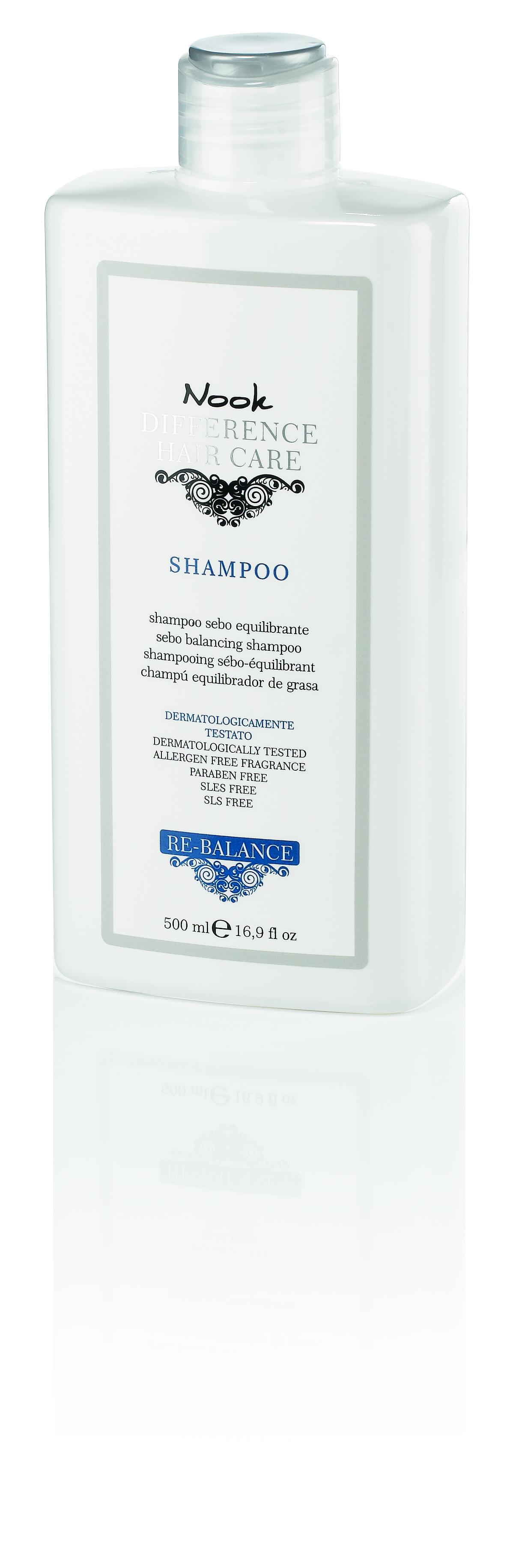 Купить NOOK Шампунь для кожи головы склонной к жирности Ph 5, 0 / DIFFERENCE HAIR CARЕ 500 мл
