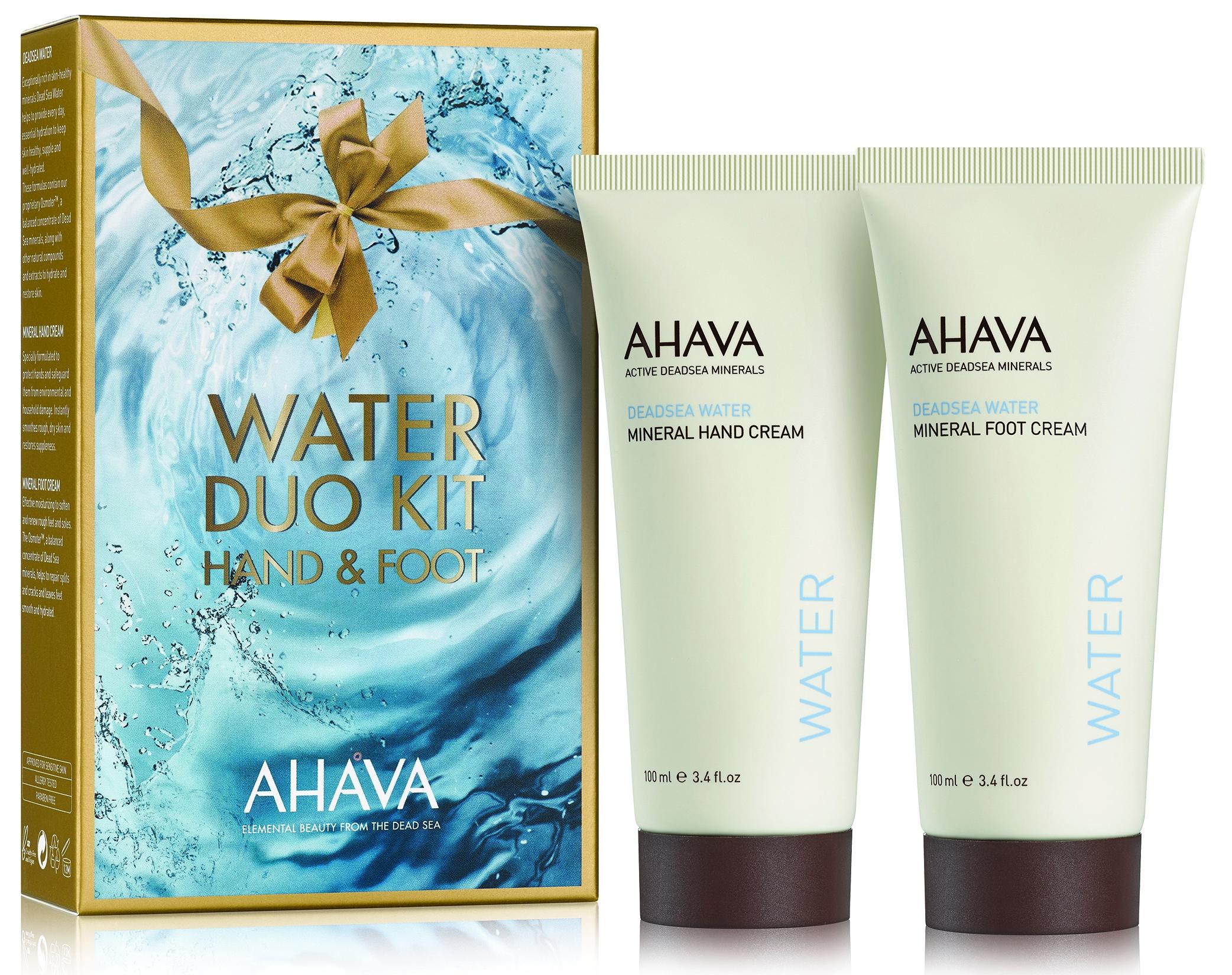 AHAVA Набор для тела (крем минеральный рук 100 мл, крем ног мл) / Deadsea Water