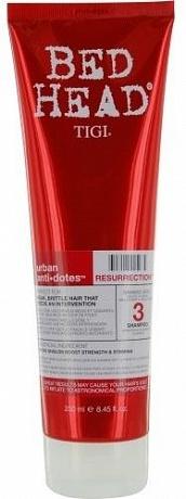 TIGI Шампунь для сильно поврежденных волос уровень 3 / BED HEAD Urban Anti+dotes Resurrection, 250 мл