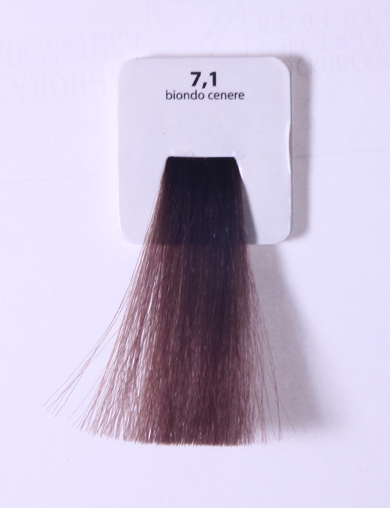 KAARAL 7.1 краска для волос / Sense COLOURS 100млКраски<br>7.1 пепельный блондин Перманентные красители. Классический перманентный краситель бизнес класса. Обладает высокой покрывающей способностью. Содержит алоэ вера, оказывающее мощное увлажняющее действие, кокосовое масло для дополнительной защиты волос и кожи головы от агрессивного воздействия химических агентов красителя и провитамин В5 для поддержания внутренней структуры волоса. При соблюдении правильной технологии окрашивания гарантировано 100% окрашивание седых волос. Палитра включает 93 классических оттенка. Способ применения: Приготовление: смешивается с окислителем OXI Plus 6, 10, 20, 30 или 40 Vol в пропорции 1:1 (60 г красителя + 60 г окислителя). Суперосветляющие оттенки смешиваются с окислителями OXI Plus 40 Vol в пропорции 1:2. Для тонирования волос краситель используется с окислителем OXI Plus 6Vol в различных пропорциях в зависимости от желаемого результата. Нанесение: провести тест на чувствительность. Для предотвращения окрашивания кожи при работе с темными оттенками перед нанесением красителя обработать краевую линию роста волос защитным кремом Вaco. ПЕРВИЧНОЕ ОКРАШИВАНИЕ Нанести краситель сначала по длине волос и на кончики, отступив 1-2 см от прикорневой части волос, затем нанести состав на прикорневую часть. ВТОРИЧНОЕ ОКРАШИВАНИЕ Нанести состав сначала на прикорневую часть волос. Затем для обновления цвета ранее окрашенных волос нанести безаммиачный краситель Easy Soft. Время выдержки: 35 минут. Корректоры Sense. Используются для коррекции цвета, усиления яркости оттенков, создания новых цветовых нюансов, а также для нейтрализации нежелательных оттенков по законам хроматического круга. Содержат аммиак и могут использоваться самостоятельно. Оттенки: T-AG - серебристо-серый, T-M - фиолетовый, T-B - синий, T-RO - красный, T-D - золотистый, 0.00 - нейтральный. Способ применения: для усиления или коррекции цвета волос от 2 до 6 уровней цвета корректоры добавляются в краситель по Правилу пятнадцат