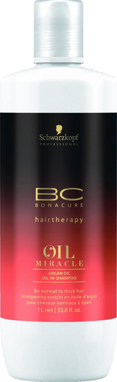SCHWARZKOPF PROFESSIONAL Шампунь для жестких и толстых волос / BC Oil Miracle 1000 мл schwarzkopf bc oil miracle brazilnut oil in shampoo шампунь с маслом бразильского ореха 1000 мл