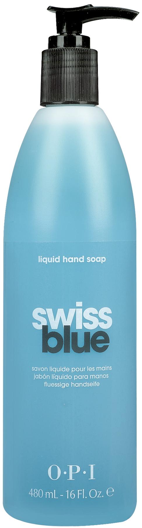 OPI Мыло для рук / Swiss Blue 480мл opi лосьон для рук и тела opi avoplex moisture replenishing lotion av711 30 мл