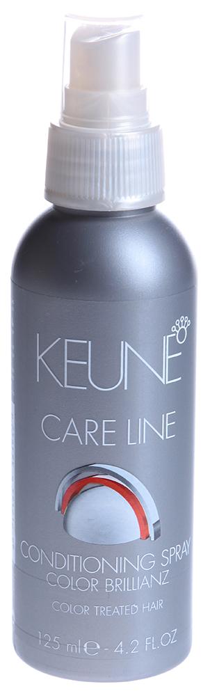 KEUNE Кондиционер-спрей Кэе Лайн Яркость цвета / CL COLOR CONDITIONER SPRAY 125млКондиционеры<br>Кондиционирующий спрей для окрашенных волос с Комплексом Color Sealing (Cохранение Цвета). Распутывает волосы и закрывает кутикулу. Защищает волосы от УФ-А и УФ-В лучей, придавая цвету невероятный блеск, возвращает жизненную силу. Активный состав: Комплекс Color Sealing (Cохранение Цвета). Применение: Наносить на просушенные полотенцем волосы и уложить по желанию. Не смывать.<br><br>Объем: 125<br>Типы волос: Окрашенные