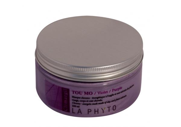 LA PHYTO Глина для лица, тела и волос Фиолетовая / Tou-mo Violet CLIMARGIL 150 грГлины<br>Глина для лица и тела Фиолетовая - антистресс, успокаивающая, снимает раздражение. Помогает осуществлять все жизненные функции (регенерация, (восстановление), ассимиляция (усвоение), очищение (выведение)) организма и поддерживает нервную систему. Активные ингредиенты: глина, эфирные масла сосны, лаванды, розмарина, майорана, лимона, апельсина и экстракты черной смородины, конского каштана, гамамелиса, огуречника и артишока. Способ применения: нанести глину на все тело и/или лицо, рефлекторные зоны, энергетические меридианы согласно протокола процедуры. Время воздействия   около 15 минут. Смыть. В домашних условиях можно использовать в качестве масок и обертываний, а также для умывания (нанести на лицо и шею мягкими круговыми движениями, смыть теплой водой).<br><br>Типы кожи: Для всех типов<br>Типы волос: Для всех типов