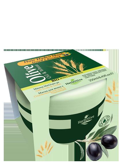 MADIS Маска с пшеницей увлажнение и питание для сухих волос / HerbOlive 250 мл