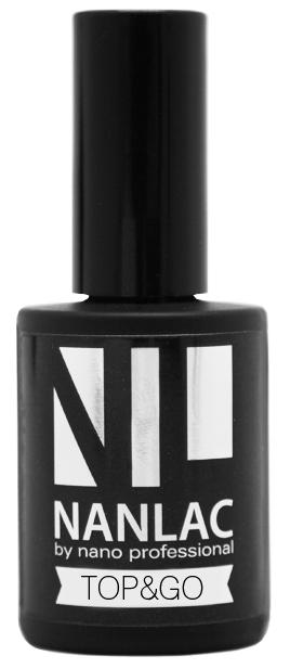 NANO PROFESSIONAL Гель-лак защитный для ногтей / NANLAC Top & Go 15 мл