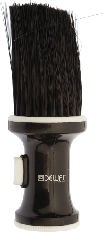 DEWAL PROFESSIONAL Кисть-сметка настольная, ручка пластик, емкость для талька, искусственная щетина, черная