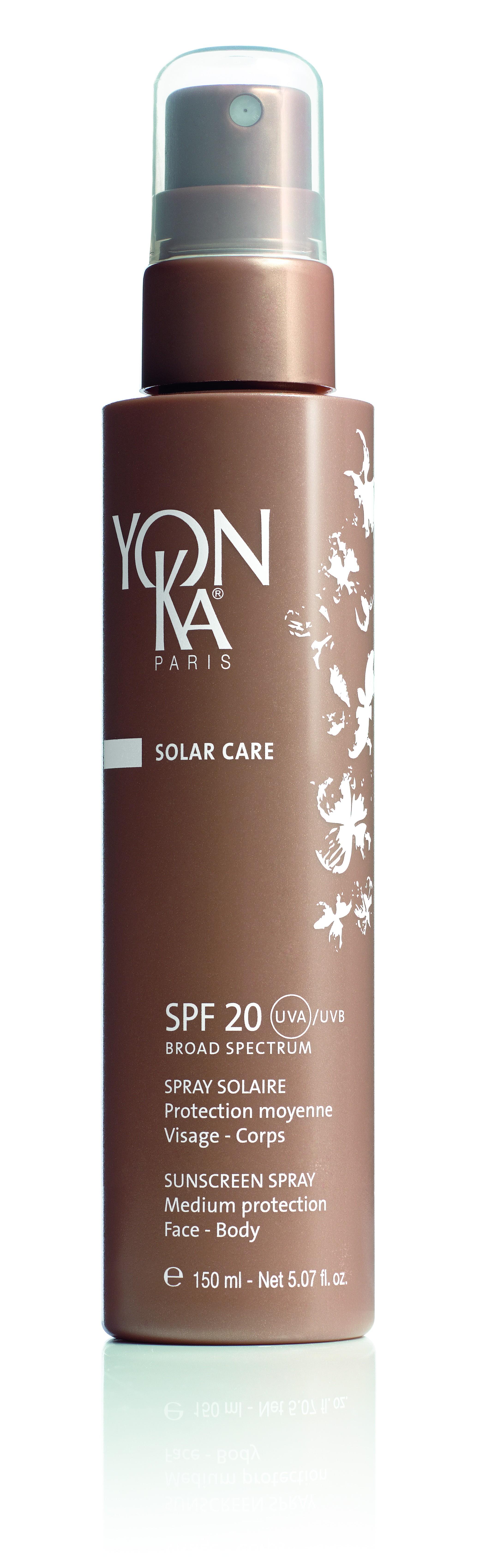 YON KA Спрей для защиты от солнца SPF20 / SOLAR CARE 150млСпреи<br>Средняя степень защиты. Этот солнцезащитный спрей имеет мягкую и легкую текстуру, рекомендуется для легко загорающей кожи и применяется во время умеренной инсоляции. Обеспечивает защиту от UVA и UVB лучей. Поддерживает гидратацию кожи. Помогает бороться со свободными радикалами. Активные ингредиенты: натуральные минеральные и органические солнцезащитные фильтры, полифенолы оливок, витамины А, Е, В5. Способ применения: нанесите перед выходом на солнце. Наносите повторно через каждые 2 часа, а также после купания или интенсивного потоотделения.<br><br>Защита от солнца: None
