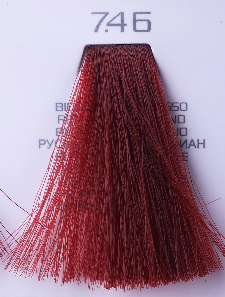 HAIR COMPANY 7.46 краска для волос / HAIR LIGHT CREMA COLORANTE 100млКраски<br>7.46 русый красный тицианHair Light Crema Colorante   профессиональный перманентный краситель для волос, содержащий в своем составе натуральные ингредиенты и в особенности эксклюзивный мультивитаминный восстанавливающий комплекс. Минимальное количество аммиака позволяет максимально бережно относится к структуре волоса во время окрашивания. Содержит в себе растительные экстракты вытяжку из арахиса, лецитин, витамин А и Е, а так же витамин С который является природным консервантом цвета. Применение исключительно активных ингредиентов и пигментов высокого качества гарантируют получение однородного, насыщенного, интенсивного и искрящегося оттенка. Великолепно дает возможность на 100% закрасить даже стекловидную седину. Наличие 6-ти микстонов, а так же нейтрального бесцветного микстона, позволяет достигать получения цветов и оттенков. Способ применения: смешать Hair Light Crema Colorante с Hair Light Emulsione Ossidante в пропорции 1:1,5. Время воздействия 30-45 мин.<br><br>Вид средства для волос: Восстанавливающий<br>Класс косметики: Профессиональная