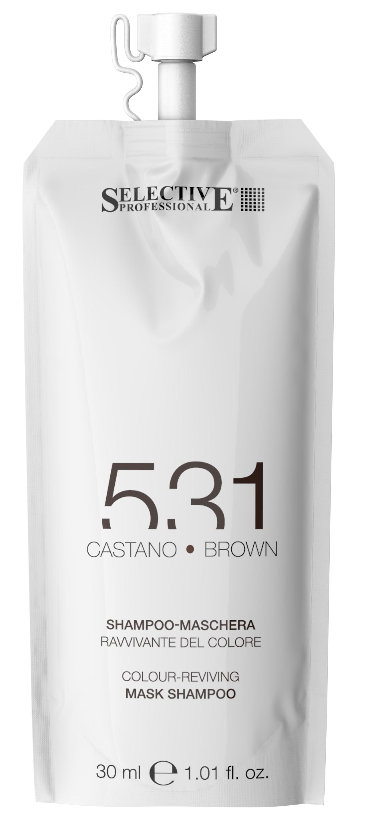 Купить SELECTIVE PROFESSIONAL Шампунь-маска для возобновления цвета волос 531, коричневый 30 мл