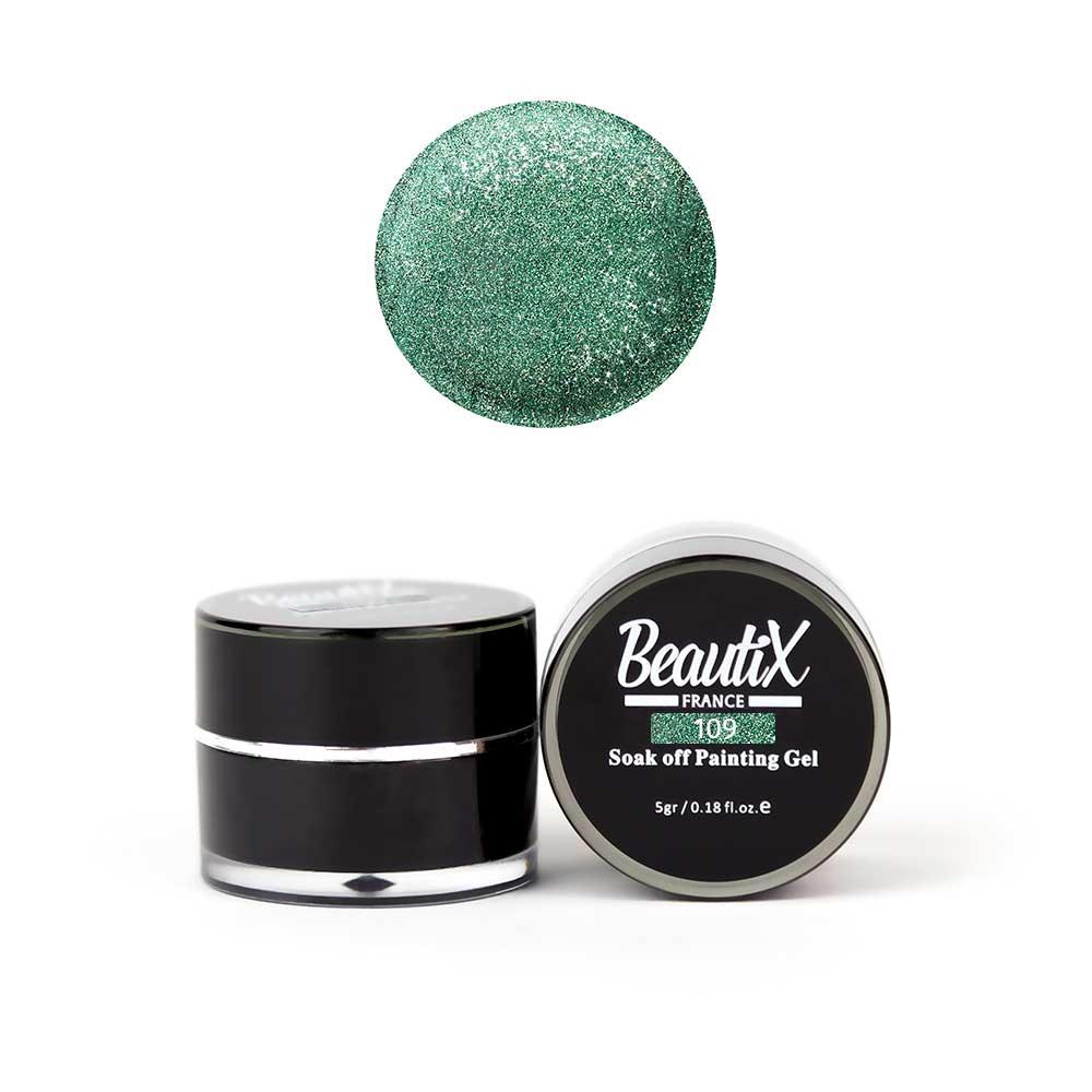 Купить BEAUTIX Глиттер мелкозернистый, 109 зеленый / Gel Painting Glitz 5 г