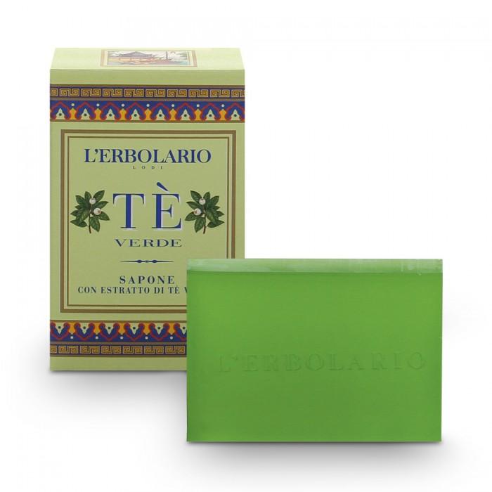 """LERBOLARIO Мыло """"Зеленый чай"""" с экстрактом зеленого чая 100гр"""