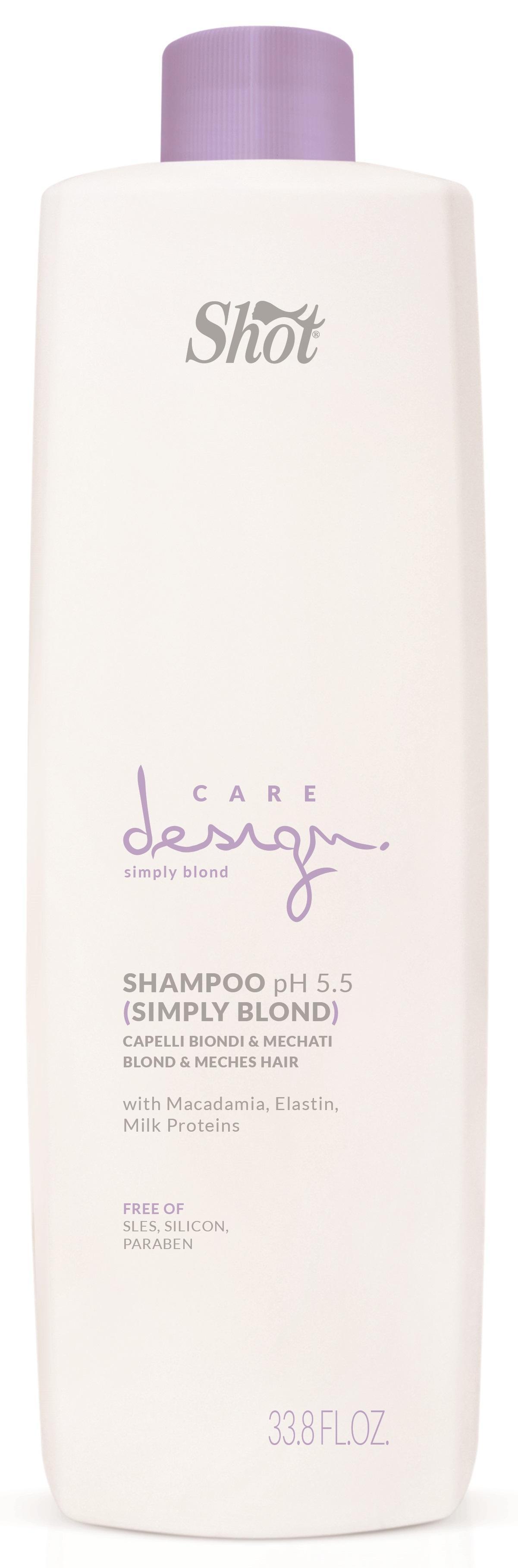 SHOT Шампунь для осветленных и мелированных волос / Care Design 1000 мл