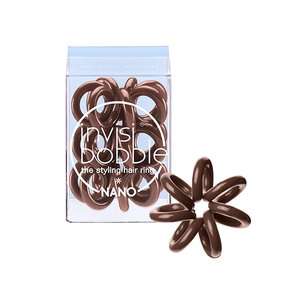 INVISIBOBBLE Резинка-браслет для волос / NANO Pretzel Brown invisibobble резинка браслет для волос queen of the jungle