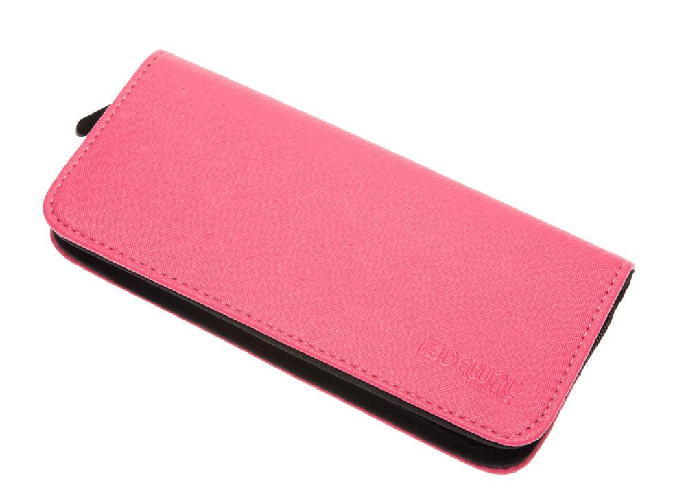 Dewal professional чехол для 2-х ножниц, полимерный материал, ярко-розовый с черным 22х10х3 см