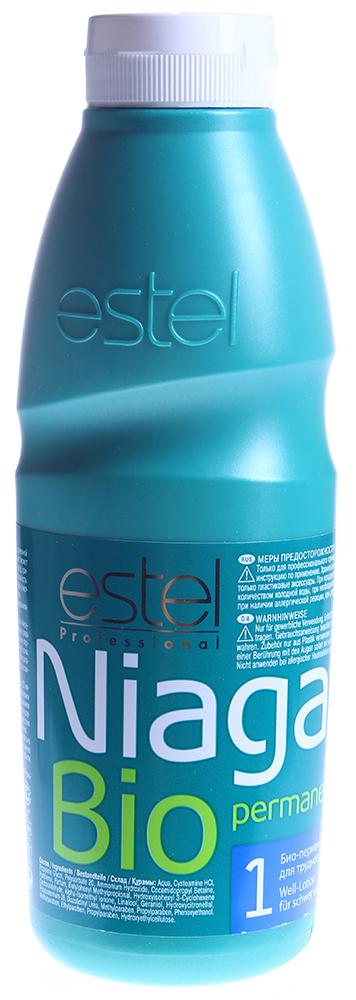 ESTEL PROFESSIONAL Био-перманент  1 для трудноподдающих волос / Niagara 500млОкислители<br>Био-перманент нового поколения NIAGARA не содержит тиогликолят аммония. Мягкая формула слабощелочного средства, основанная на Цистеамине (Cysteamine), родственном по структуре одной из основных аминокислот волоса - Цистеину, обеспечивает щадящий эффект завивки и гарантирует получение ухоженных, равномерных, естественных локонов. Волосы постепенно меняют структуру по мере проникновения состава, при этом изменяется лишь небольшая часть серных мостиков, отвечающих за прочность волос. NIAGARA содержит провитамин В5 и имеет значение рН, близкое к нейтральному. Био-перманент обладает нейтральным запахом, обеспечивает деликатное воздействие и максимум ухода за волосами. Активные ингредиенты: Цистеин, провитамин В5. Способ применения: Продукция предназначена только для профессионального применения.<br><br>Объем: 500мл<br>Вид средства для волос: Щадящая<br>Класс косметики: Профессиональная