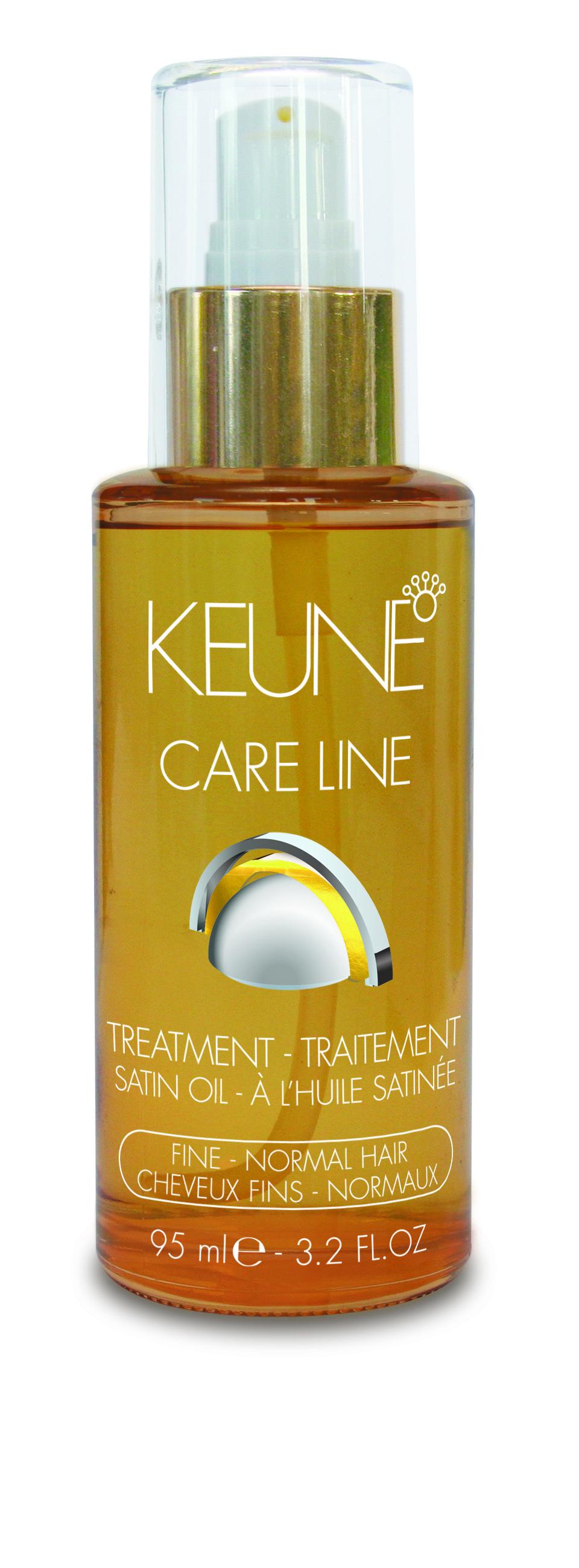 KEUNE Масло Кэе Лайн Шелковый уход / CL SATIN OIL TREATMENT FINE 95млМасла<br>Мягкий невесомый коктейль масел, который разглаживает увлажняет &amp;nbsp;волосы, придавая им сияющий блеск. Можно добавлять к другим продуктам по уходу для обогащения их питательными веществами или наносить на сухие или влажные волосы. Инновационная формула придает волосам здоровый вид, блеск, мягкость, сияние, а также прекрасно увлажняет волосы изнутри. Результат - сильные, здоровые и шелковистые волосы. Активные ингредиенты: масло маракуйи, масло сладкого миндаля, масло маной, масло янгу. Способ применения: Кондиционер: нанести на просушенные полотенцем волосы и не смывать в течении 5-10 минут, после тщательно промыть шампунем Care Line Satin Oil. Ночной Несмываемый Кондиционер: нанести на просушенные полотенцем волосы и оставить на ночь. На следующий день тщательно промыть шампунем Care Line Satin Oil. Маска Супер Сияние: экстра восстановление и блеск. Смешать несколько капель с кондиционером Care Line Satin Oil, оставить на 5-10 минут, после тщательно промыть. Защита Волос: несколько капель на сухие или просушенные полотенцем волосы защищают от теплового воздействия. Стильное Завершение: несколько капель добавленные в ежедневный продукт для стайлинга   забота о секущихся кончиках и придание им блеска.<br><br>Вид средства для волос: Несмываемый<br>Назначение: Секущиеся кончики<br>Время применения: Ночной