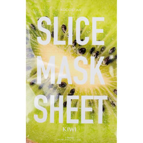 KOCOSTAR Маска-слайс киви для лица / SLICE MASK SHEET (KIWI) 20 мл тканевые маски и патчи kocostar маска слайс для лица алоэ вера 20мл