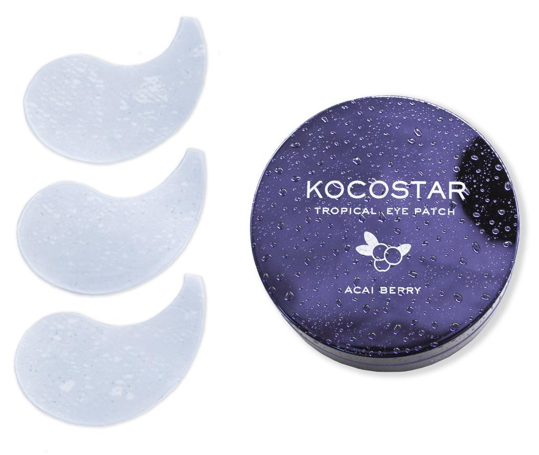 Купить KOCOSTAR Патчи гидрогелевые для глаз Тропические фрукты, ягоды асаи / Tropical Eye Patch Acai Berry Jar 60 патчей