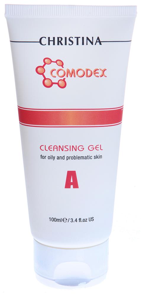 CHRISTINA Гель очищающий / A Cleansing Gel COMODEX 100млГели<br>Специальный не мыльный очиститель. Содержит экстракт мыльнянки лекарственной - натуральный очищающий ингредиент, триклозан, оказывающий легкий профилактический эффект и гликолевую кислоту - для балансировки pH уровня. Состав: Деминерализованная вода, сок лимона, экстракт мыльнянки лекарственной, экстракт мыльного дерева, гликолевая кислота, экстракт винограда, экстракт арники, кокоамидопропилбетаин, сукроза, триклозан, экстракт томата, экстракт зеленого чая, экстракт шалфея, аскорбиновая кислота, аллантоин, ароматизатор, метилпарабен. Применение: Утром и вечером наносите мыло на кожу, слегка разбавив водой. Нежно помассируйте и смойте теплой водой.<br><br>Объем: 100<br>Вид средства для лица: Очищающий