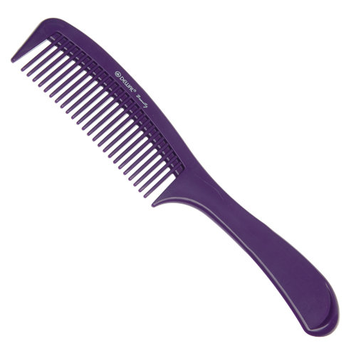 DEWAL BEAUTY Расческа с ручкой, фиолетовая 22 см