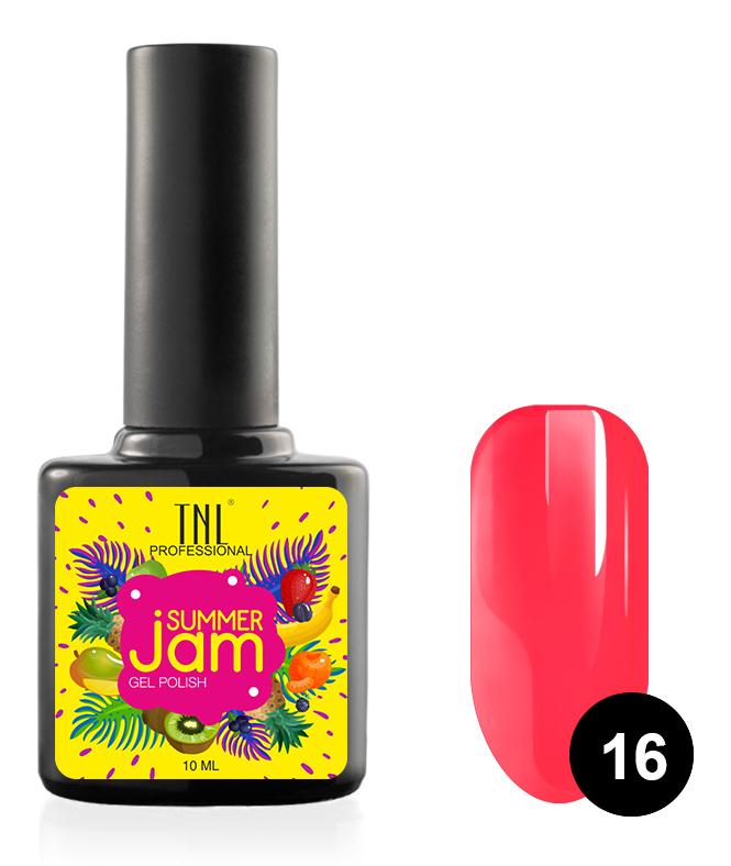 Купить TNL PROFESSIONAL 16 гель-лак для ногтей, неоновый ярко-коралловый / Summer Jam 10 мл, Розовые