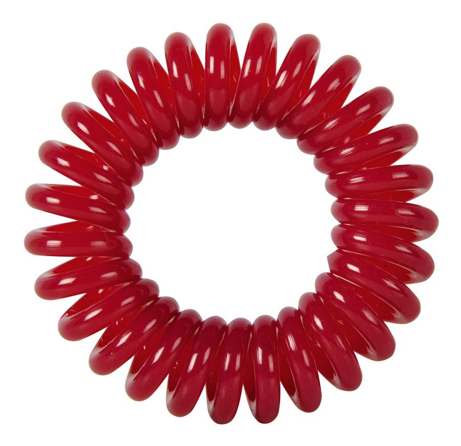 DEWAL BEAUTY Резинки для волос Пружинка, цвет темно-красный 3 шт