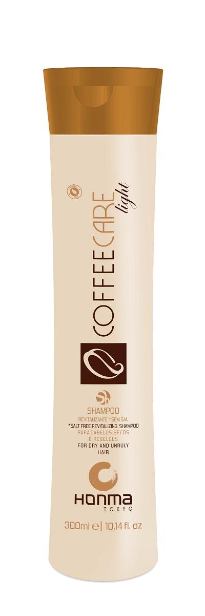 HONMA TOKYO Шампунь бессолевой восстанавливающий для укрепления ломких и непослушных волос / Coffee Care Light 300 мл