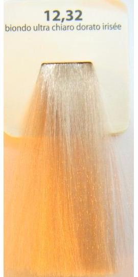 KAARAL 12.32 краска для волос / Sense COLOURS 100млКраски<br>12.32   Золотисто-радужный ультрасветлый блондин. Перманентные красители. Классический перманентный краситель бизнес класса. Обладает высокой покрывающей способностью. Содержит алоэ вера, оказывающее мощное увлажняющее действие, кокосовое масло для дополнительной защиты волос и кожи головы от агрессивного воздействия химических агентов красителя и провитамин В5 для поддержания внутренней структуры волоса. При соблюдении правильной технологии окрашивания гарантировано 100% окрашивание седых волос. Палитра включает 93 классических оттенка. Способ применения: Приготовление: смешивается с окислителем OXI Plus 6, 10, 20, 30 или 40 Vol в пропорции 1:1 (60 г красителя + 60 г окислителя). Суперосветляющие оттенки смешиваются с окислителями OXI Plus 40 Vol в пропорции 1:2. Для тонирования волос краситель используется с окислителем OXI Plus 6Vol в различных пропорциях в зависимости от желаемого результата. Нанесение: провести тест на чувствительность. Для предотвращения окрашивания кожи при работе с темными оттенками перед нанесением красителя обработать краевую линию роста волос защитным кремом Вaco. ПЕРВИЧНОЕ ОКРАШИВАНИЕ Нанести краситель сначала по длине волос и на кончики, отступив 1-2 см от прикорневой части волос, затем нанести состав на прикорневую часть. ВТОРИЧНОЕ ОКРАШИВАНИЕ Нанести состав сначала на прикорневую часть волос. Затем для обновления цвета ранее окрашенных волос нанести безаммиачный краситель Easy Soft. Время выдержки: 35 минут. Корректоры Sense. Используются для коррекции цвета, усиления яркости оттенков, создания новых цветовых нюансов, а также для нейтрализации нежелательных оттенков по законам хроматического круга. Содержат аммиак и могут использоваться самостоятельно. Оттенки: T-AG - серебристо-серый, T-M - фиолетовый, T-B - синий, T-RO - красный, T-D - золотистый, 0.00 - нейтральный. Способ применения: для усиления или коррекции цвета волос от 2 до 6 уровней цвета корректоры добавляются в 