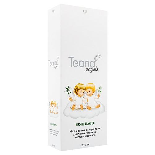 TEANA Шампунь-пенка мягкий детский для купания с оливковым маслом и эвкалиптом Нежный Ангел, 250 мл