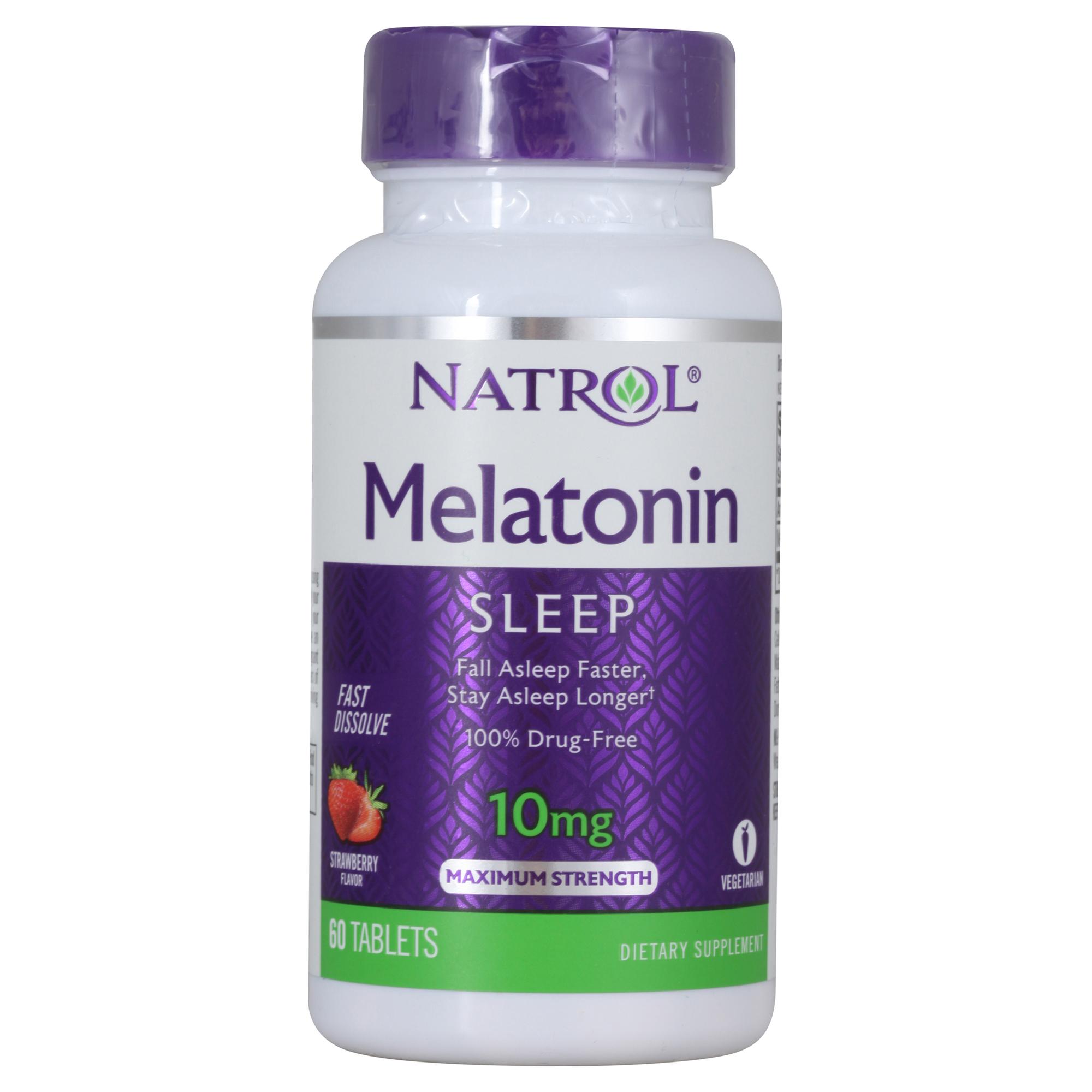 Купить NATROL Добавка биологически активная к пище Мелатонин / Melatonin F/D 10 мг 60 быстрорастворимых таблеток