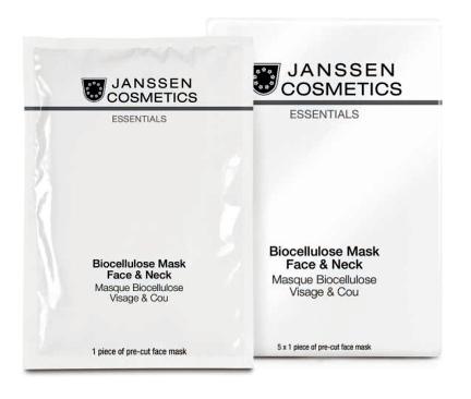 JANSSEN Маска лифтинг универсальная интенсивно увлажняющая с голубикой для лица и шеи / Biocellulose Mask Face Neck 1 шт