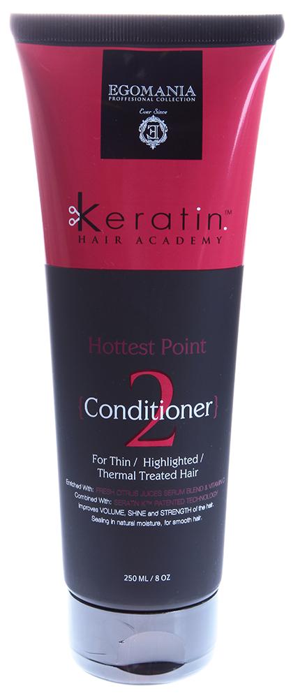EGOMANIA Кондиционер для тонких, мелированных, химически завитых волос На пике красоты/KERATIN 250мл