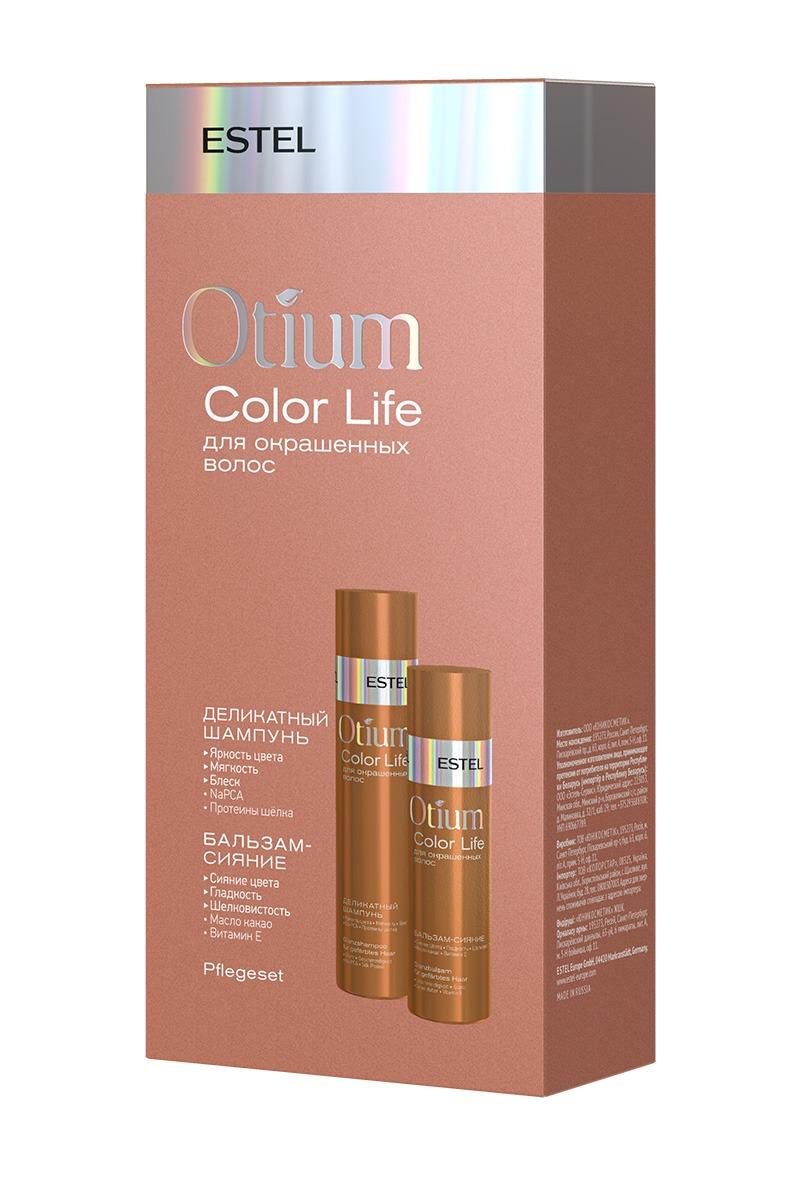 Купить ESTEL PROFESSIONAL Набор для окрашенных волос (шампунь 250 мл, бальзам 200 мл) OTIUM COLOR LIFE