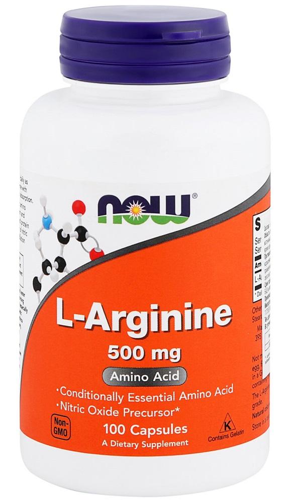 NOW FOODS Добавка биологически активная к пище L-Аргинин / ARGININE 500 мг 100 капсул