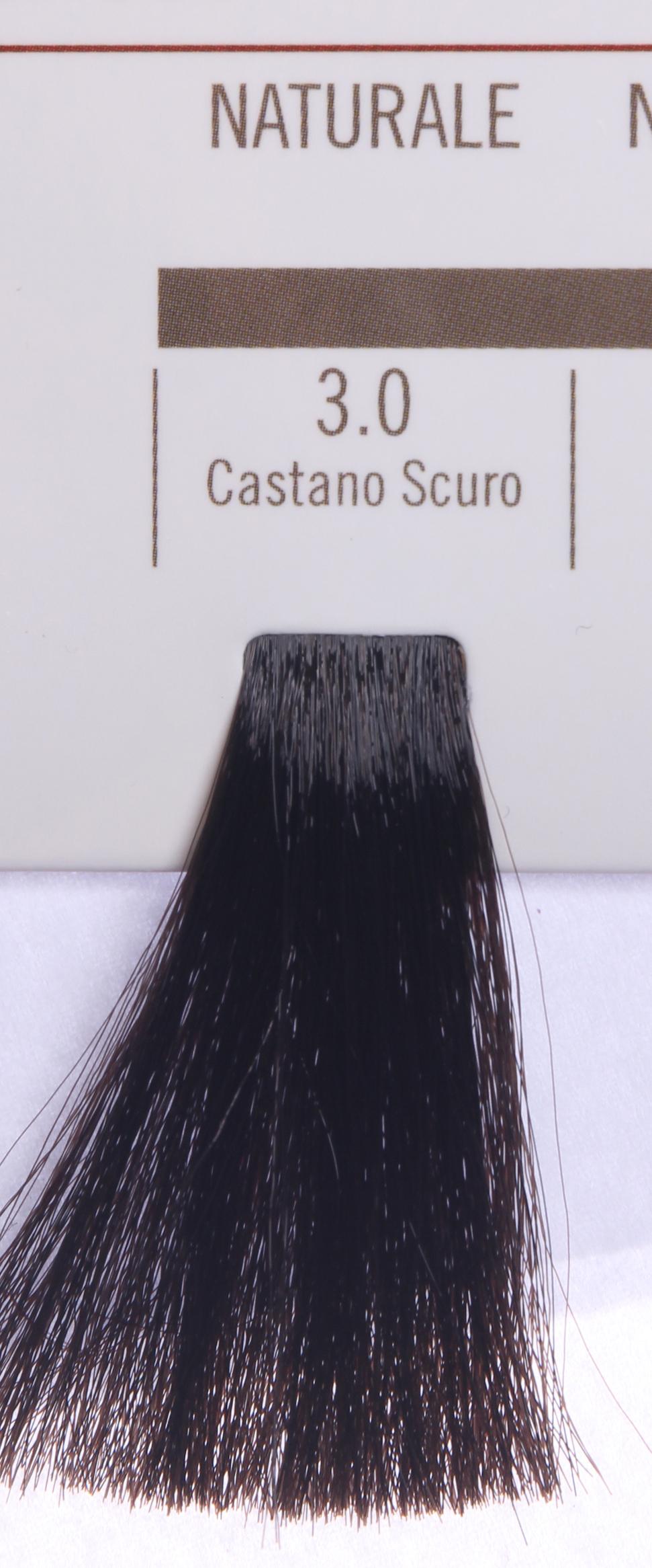 BAREX 3.0 краска для волос / PERMESSE 100млКраски<br>Оттенок: Темный каштан. Профессиональная крем-краска Permesse отличается низким содержанием аммиака - от 1 до 1,5%. Обеспечивает блестящий и натуральный косметический цвет, 100% покрытие седых волос, идеальное осветление, стойкость и насыщенность цвета до следующего окрашивания. Комплекс сертифицированных органических пептидов M4, входящих в состав, действует с момента нанесения, увлажняя волосы, придавая им прочность и защиту. Пептиды избирательно оседают в самых поврежденных участках волоса, восстанавливая и защищая их. Масло карите оказывает смягчающее и успокаивающее действие. Комплекс пептидов и масло карите стимулируют проникновение пигментов вглубь структуры волоса, придавая им здоровый вид, блеск и долговечность косметическому цвету. Активные ингредиенты:&amp;nbsp;Сертифицированные органические пептиды М4 - пептиды овса, бразильского ореха, сои и пшеницы, объединенные в полифункциональный комплекс, придающий прочность окрашенным волосам, увлажняющий и защищающий их. Сертифицированное органическое масло карите (масло ши) - богато жирными кислотами, экстрагируется из ореха африканского дерева карите. Оказывает смягчающий и целебный эффект на кожу и волосы, широко применяется в косметической индустрии. Масло карите защищает волосы от неблагоприятного воздействия внешней среды, интенсивно увлажняет кожу и волосы, т.к. обладает высокой степенью абсорбции, не забивает поры. Способ применения:&amp;nbsp;Крем-краска готовится в смеси с Молочком-оксигентом Permesse 10/20/30/40 объемов в соотношении 1:1 (например, 50 мл крем-краски + 50 мл молочка-оксигента). Молочко-оксигент работает в сочетании с крем-краской и гарантирует идеальное проявление краски. Тюбик крем-краски Permesse содержит 100 мл продукта, количество, достаточное для 2 полных нанесений. Всегда надевайте подходящие специальные перчатки перед подготовкой и нанесением краски. Подготавливайте смесь крем-краски и молочка-оксигента Permesse в неметаллическо