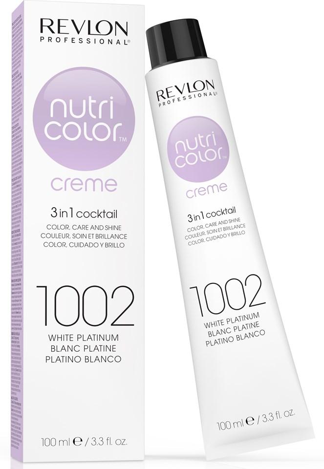 REVLON Professional 1002 краска 3 в 1 для волос, платина / NUTRI COLOR CREME 100 мл