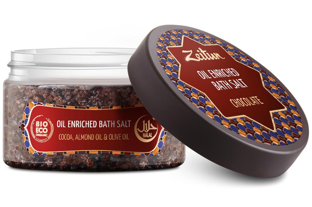 ZEITUN Аромасоль для ванн Шоколадная (плоды какао, ваниль) 250 г