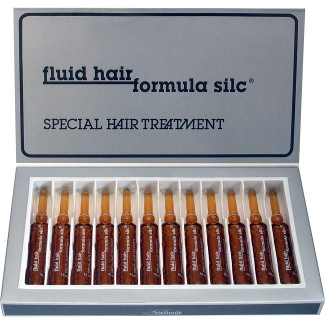 WT METHODE Флюид Хаир Формула Силк, ампулы ( 2), 12х10млАмпулы<br>Формула Силк обеспечит в кратчайшие сроки лечение тонких, ломких и секущихся волос. Первичный эффект наблюдается после применения 1-й ампулы. Формула Силк предназначена для лечения не корневой системы, а непосредственно структуры самого волоса. Состав: содержит жидкий кератин и другие компоненты, которые способствуют восстановлению волоса. Кератин проникает вглубь волоса и восстанавливает участки даже с сильно нарушенной структурой. Применение: После мытья головы следует подсушить волосы полотенцем,надломить ампулу и нанести препарат на всю поверхность волос. НЕ СМЫВАТЬ! Подсушить при помощи фена. Использование горячего воздуха-фена, помогает воздействию FLUID HAIR и помогает достичь лучших результатов.<br>
