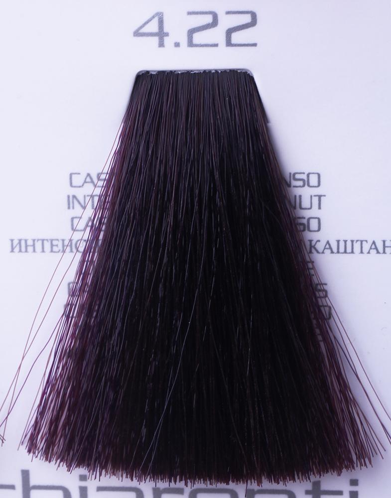 HAIR COMPANY 4.22 краска для волос / HAIR LIGHT CREMA COLORANTE 100млКраски<br>4.22 интенсивный искрящийся каштанHair Light Crema Colorante   профессиональный перманентный краситель для волос, содержащий в своем составе натуральные ингредиенты и в особенности эксклюзивный мультивитаминный восстанавливающий комплекс. Минимальное количество аммиака позволяет максимально бережно относится к структуре волоса во время окрашивания. Содержит в себе растительные экстракты вытяжку из арахиса, лецитин, витамин А и Е, а так же витамин С который является природным консервантом цвета. Применение исключительно активных ингредиентов и пигментов высокого качества гарантируют получение однородного, насыщенного, интенсивного и искрящегося оттенка. Великолепно дает возможность на 100% закрасить даже стекловидную седину. Наличие 6-ти микстонов, а так же нейтрального бесцветного микстона, позволяет достигать получения цветов и оттенков. Способ применения: смешать Hair Light Crema Colorante с Hair Light Emulsione Ossidante в пропорции 1:1,5. Время воздействия 30-45 мин.<br><br>Цвет: Бежевый и коричневый<br>Вид средства для волос: Восстанавливающий<br>Класс косметики: Профессиональная