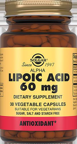 SOLGAR Альфа-липоевая кислота, капсулы № 30