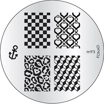 KONAD Форма печатная (диск с рисунками) / image plate M93 10гр декор для маникюра konad печатная форма диск image plate m102