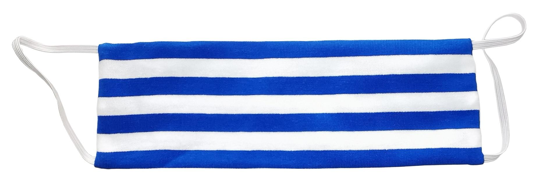 AGLAE MICHON Маска декоративная многоразовая с карманом для фильтра, цвет сине-белая полоска 1 шт