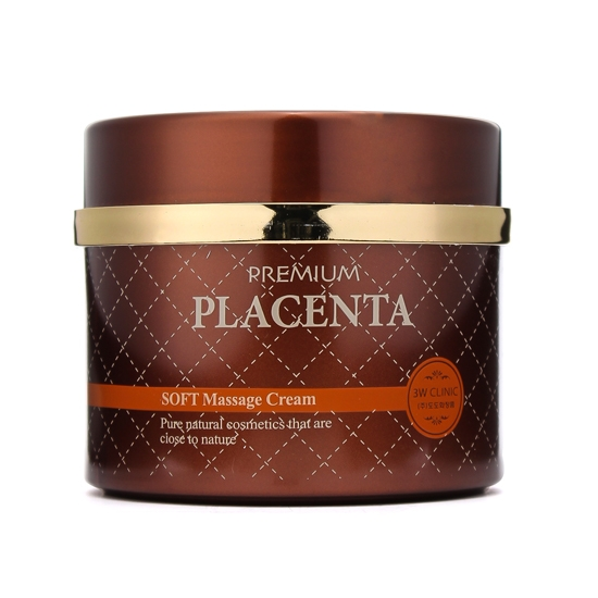 3W CLINIC Крем массажный с экстрактом плаценты / Placenta 300 мл