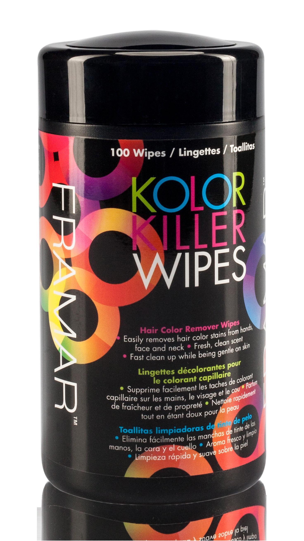 Купить FRAMAR Салфетки влажные для удаления краски с кожи рук, лица и шеи / Kolor Killer Wipes 100 шт
