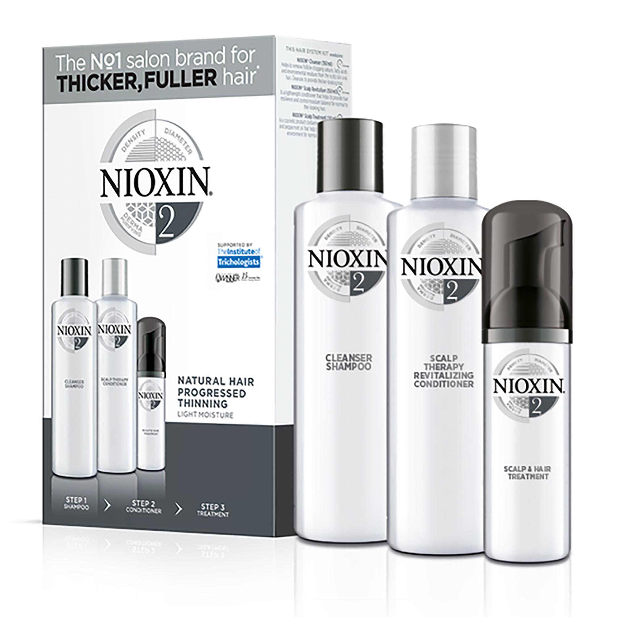 NIOXIN Набор для ухода за тонкими натуральными, заметно редеющими волосами Система 2