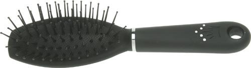 DEWAL BEAUTY Расческа Шарм массажная с пластиковым штифтом, овальная мини 18 см