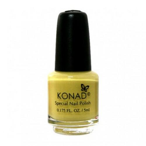 KONAD Лак на акриловой основе для стемпинга, пастельно-желтый S05 5 мл повседневный лак konad regular nail polish konad psyche green