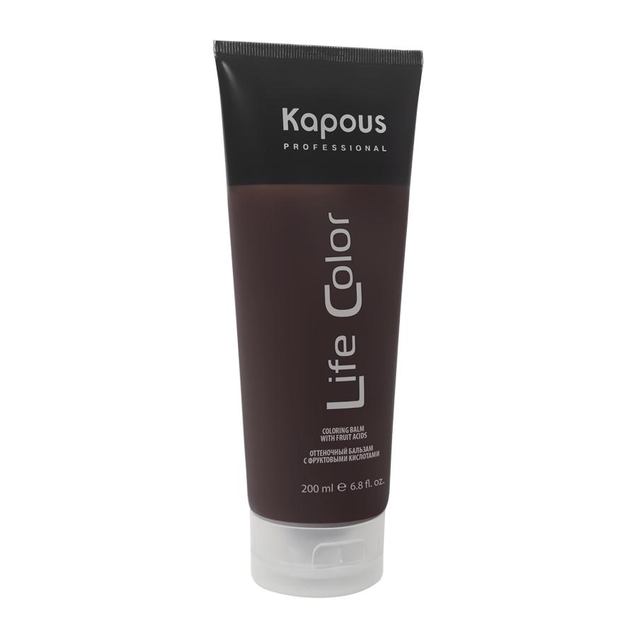 KAPOUS Бальзам оттеночный для волос Песочный / Life Color 200млБальзамы<br>Бальзам оттеночный для волос - это идеальное обновляющее косметическое средство для окрашенных волос, интенсивно освежающее их цвет и придающее дополнительный блеск уже окрашенным волосам. Песочный - мягкий тон для нанесения на обесцвеченные волосы и придания им нейтрального, натурального цвета. Бальзам выполняет все необходимые функции по восстановлению и защите волос от вредного воздействия внешних негативных факторов. Тем самым, бальзам делает натуральный цвет волос еще более насыщенным, возвращает им эластичность и обладает антистатическим эффектом, значительно облегчающим процесс расчесывания. Входящие в состав бальзама УФ-фильтры предотвращают потускнение и выгорание яркого цвета волос, под воздействием солнечных лучей. Бальзам не содержит аммиака и перекиси водорода, поэтому его можно применять так часто, как Вы захотите. При регулярном применении бальзама волосы приобретают насыщенный глубокий цвет, получают необходимое питание и восстанавливают естественный энергетический баланс. Даже самые поврежденные волосы улучшат свою структуру и внешний вид. Способ применения: нанесите на чистые влажные волосы небольшое количество оттеночного бальзама равномерно распределяя его по всей длине волос. Оставьте на 5-30 минут, в зависимости от желаемой степени интенсивности воздействия. По истечении указанного времени тщательно промойте волосы теплой воды. Оттеночный бальзам компании KAPOUS полностью выполняет все функции обычного бальзама, поэтому, после мытья головы Ваши волосы не нуждаются ни в каком дополнительном уходе.<br><br>Тип: Бальзам оттеночный<br>Вид средства для волос: Оттеночный