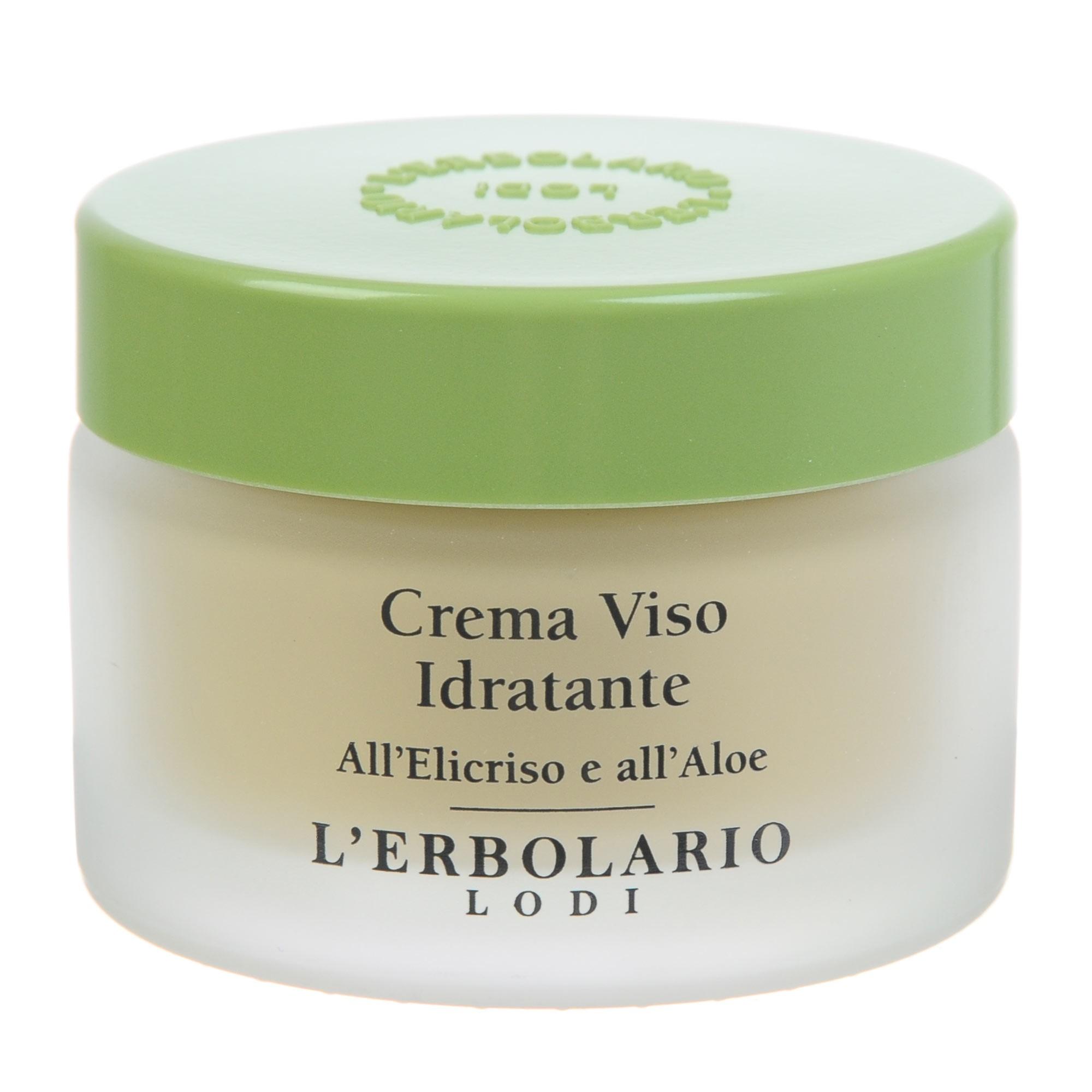 LERBOLARIO Крем увлажняющий для лица с цмином и алое 50 млКремы<br>Крем с цмином и алое от L`Erbolario - это защитный, увлажняющий крем для любого типа кожи. Особый состав этого крема делает его поистине незаменимым для тех, кто любит проводить свободное время на открытом воздухе. Он защищает кожу лица от интенсивного солнечного света, сильного ветра, холода или жары. Ежедневное использование этого крема обеспечивает идеальное увлажнение кожи, препятствует появлению морщин, сохраняет кожу молодой и свежей.  Активные ингредиенты: Экстракт цмина, экстракт алоэ, дистиллированная вода цмина, увлажняющий комплекс, неомыляющаяся фракция оливкового масла, гамма-оризанол (UVA-фильтр растительного происхождения, получен из масла отрубей риса).   Способ применения: Наносить на предварительно очищенную кожу лица за 15-20 минут до выхода на улицу.<br><br>Возраст применения: После 25<br>Назначение: Морщины